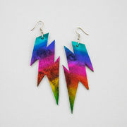 Rainbow Pride Lightning Earrings – MAKEEdesign